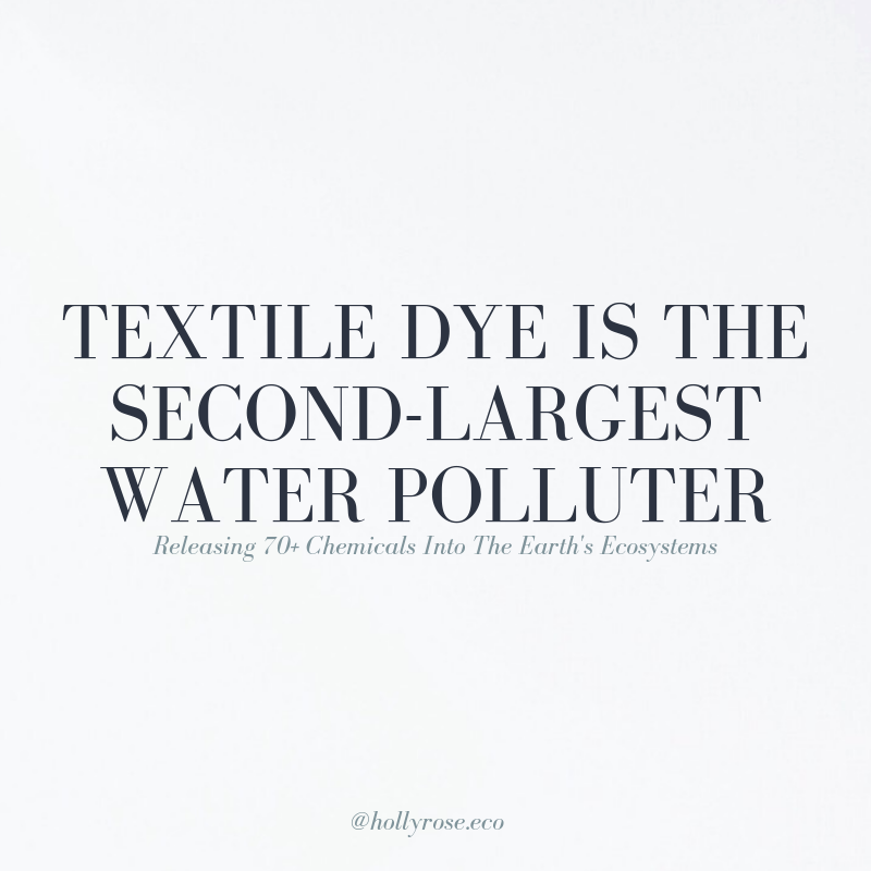 water pollution facts, natural dye, plant dye, eco friendly dye, regenerative clothing, regenerative fashion, fibershed fashion, plant-dyed clothing, clothing dyed with natural plant dyes, natural plant dyes, plant dyes, regenerative agriculture, water pollution, end fast fashion, fashion revolution, botanical dyes, plant-dyes, swisstex California, environmental racism, toxic-dyes in the textile industry, chemicals in the textile industry, effects of textile industry on environment, slow fashion, slow clothing movement, green fashion, green fashion blogger, ethical fashion blogger, sustainable fashion blogger, regenerative fashion, regenerative agriculture, sustainable fashion, slow fashion, slow living, ethical living, fairtrade, natural dye, plant-based dye, what brands dye with plants, which brands use natural dyes, is clothing dye eco-friendly?